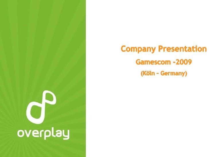 Overplay Company Presentation New