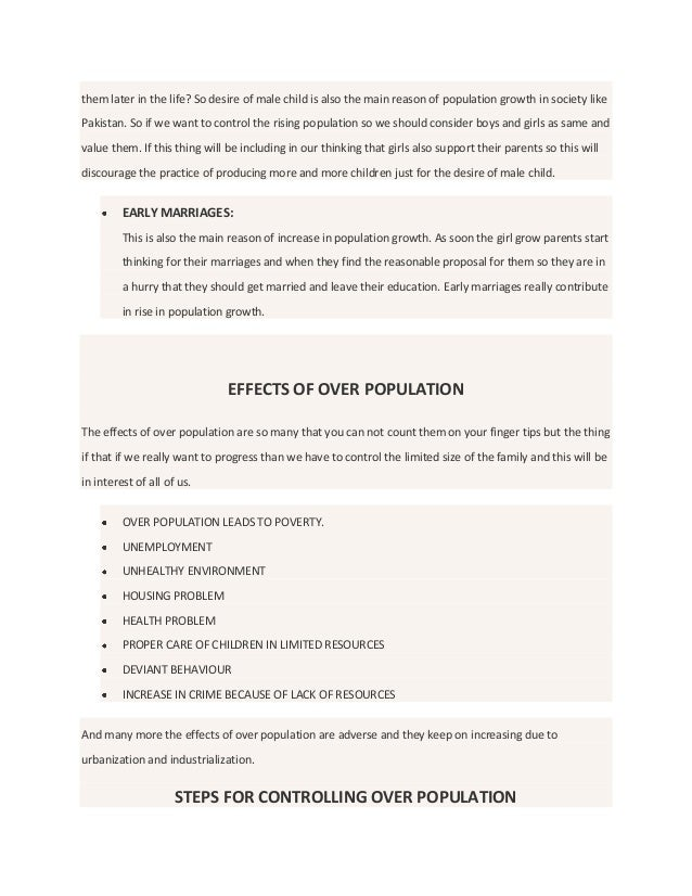 pollution and population essay Read how to choose a topic for overpopulation cause and effect essay overpopulation essay writing tips.