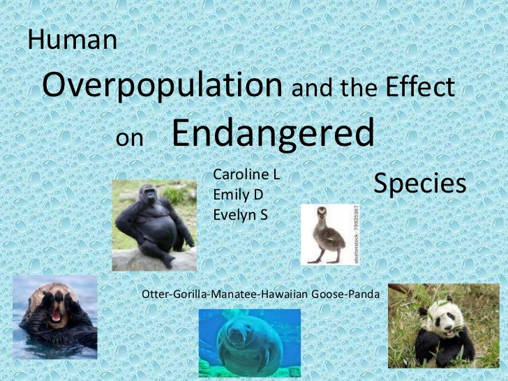 HumanOverpopulation and the Effect     on     Endangered                    Caroline L                    Emily D         ...