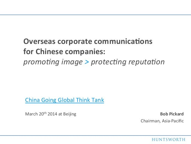 Overseas corporate communications for Chinese companies
