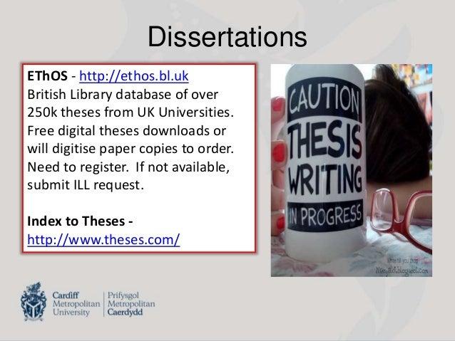 Ethos Dissertations