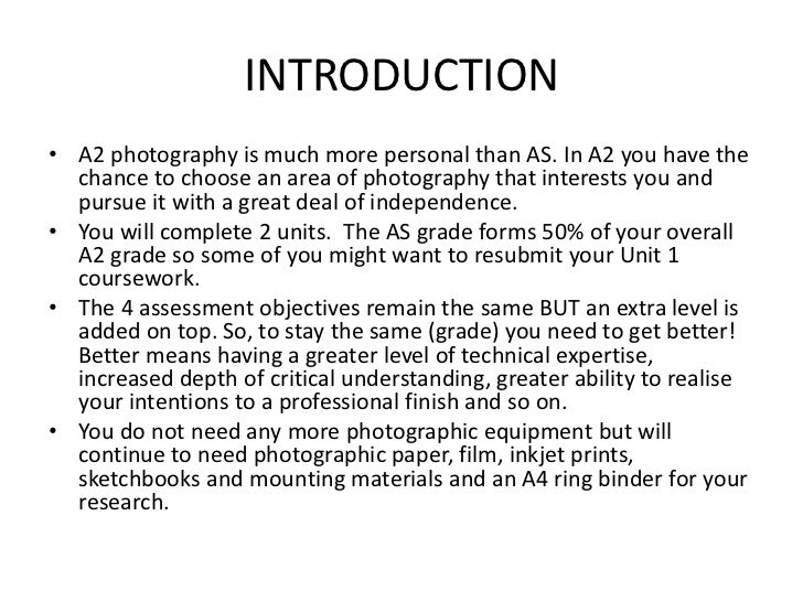 Photographer essay