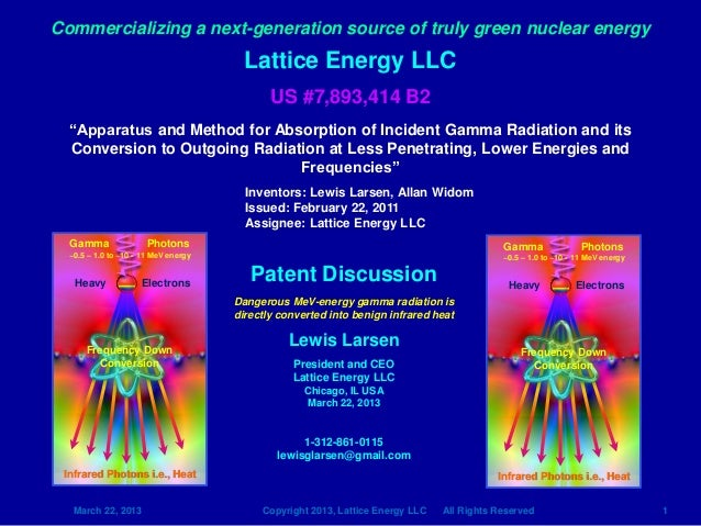 Commercializing a next-generation source of truly green nuclear energy                                       Lattice Energ...