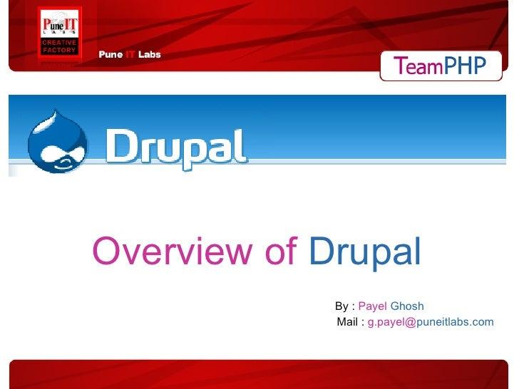 Overview Of Drupal