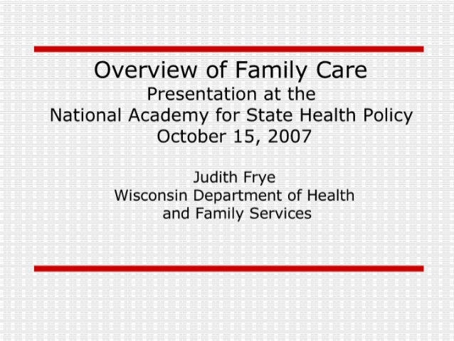 Overview of Family Care