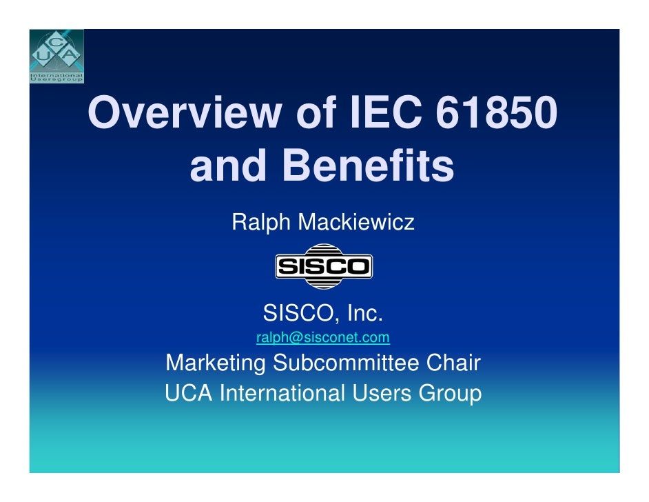 Overview Of  I E C61850  Presentation..... W S M