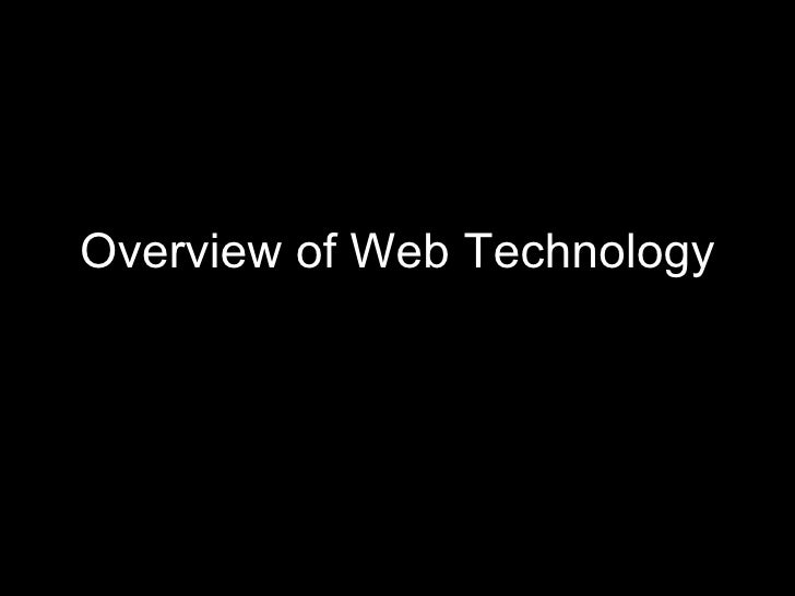 Overview of Web Technology