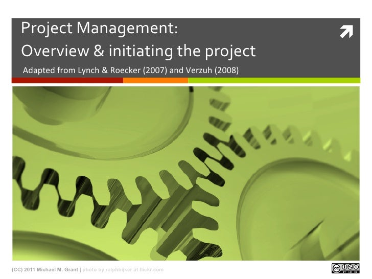eLearning Project Management: Overview and Initiating