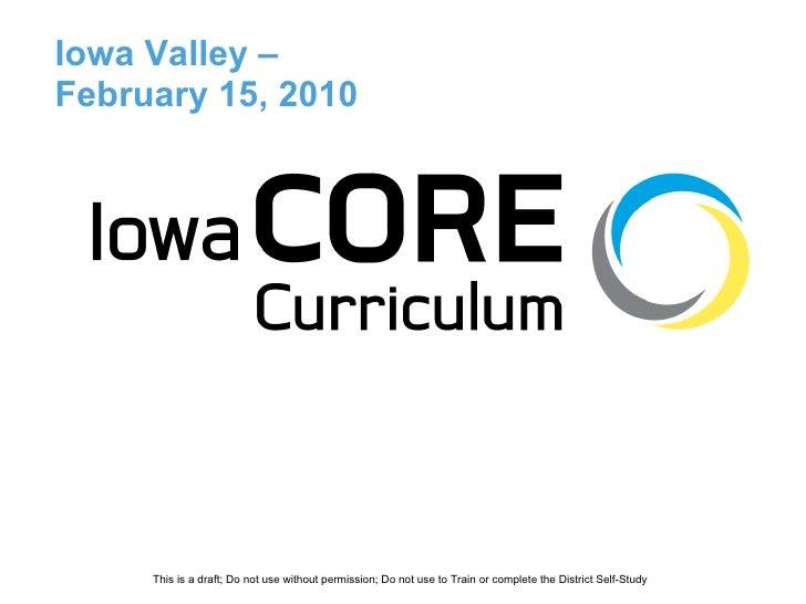 Iowa Valley –  February 15, 2010