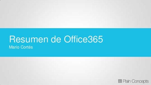 Resumen de Office365 Mario Cortés
