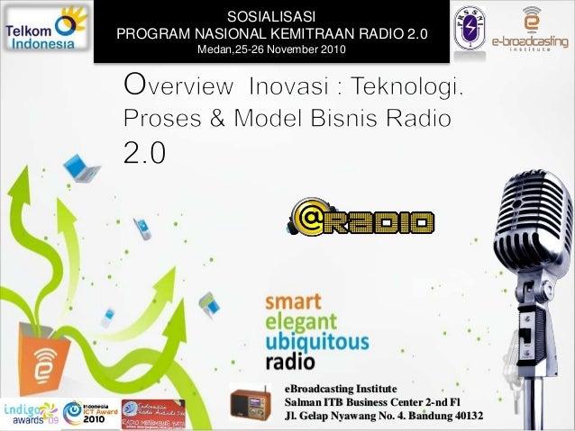 eBroadcasting Institute Salman ITB Business Center 2-nd Fl Jl. Gelap Nyawang No. 4. Bandung 40132 SOSIALISASI PROGRAM NASI...