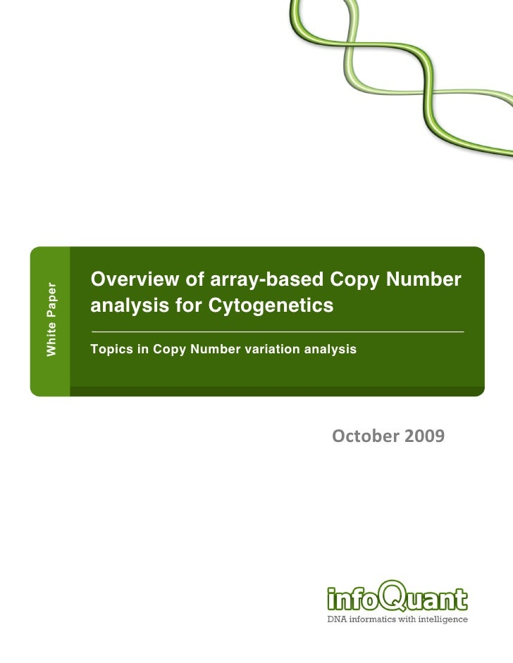 Overview of array-based Copy Number                  analysi...