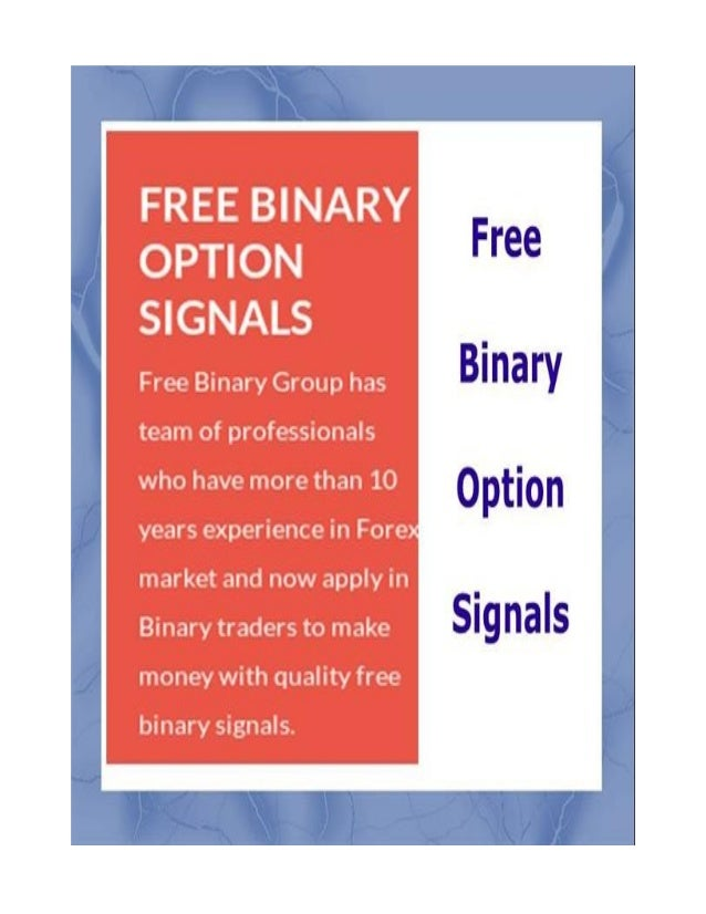 Binary options signals example