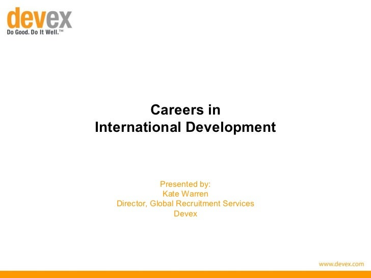 Overview of careers in international development for brazen careerist