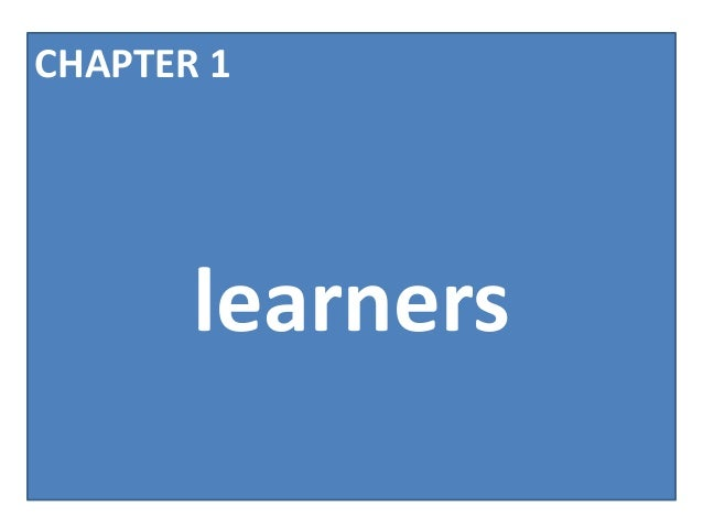 CHAPTER 1       learners