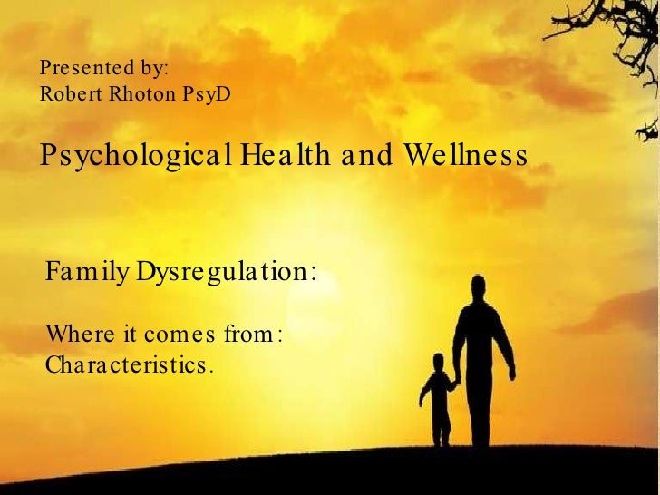 Overview of dysregulated families edited version