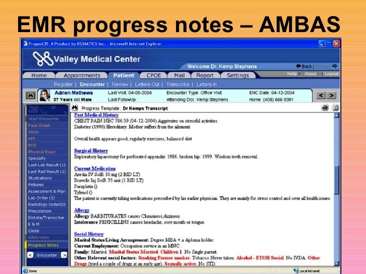 Overview Of Electronic Medical Records Sanjoy Sanyal