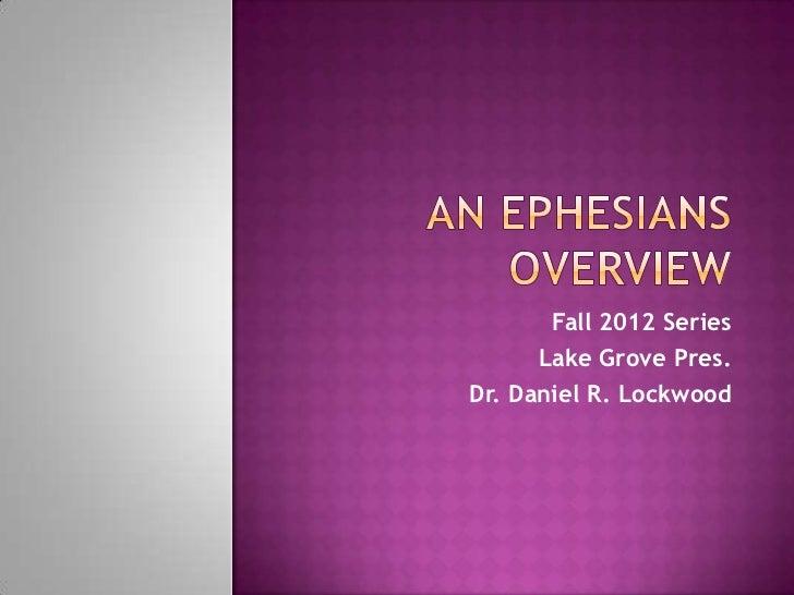 Overview of Ephesians