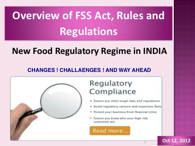 Overview of FSS Act, Rules & Regulation_2012