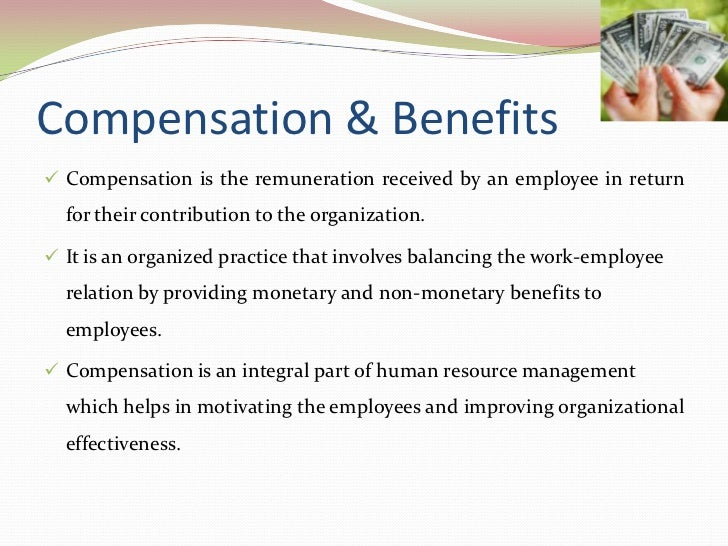 an overview of employee compensation practices Hr strives to support sound compensation practices across the university community use the following information to gain an understanding of the university's compensation philosophy and get a sense of the terms used to express different aspects of employees' compensation packages.