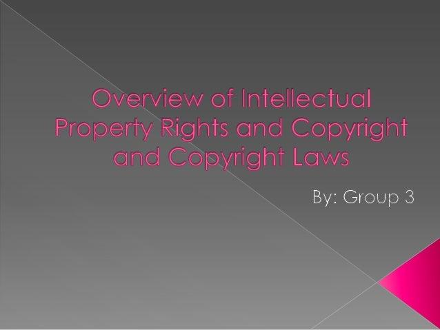 Intellectual Property  Intellectual Property Rights  Copyright 