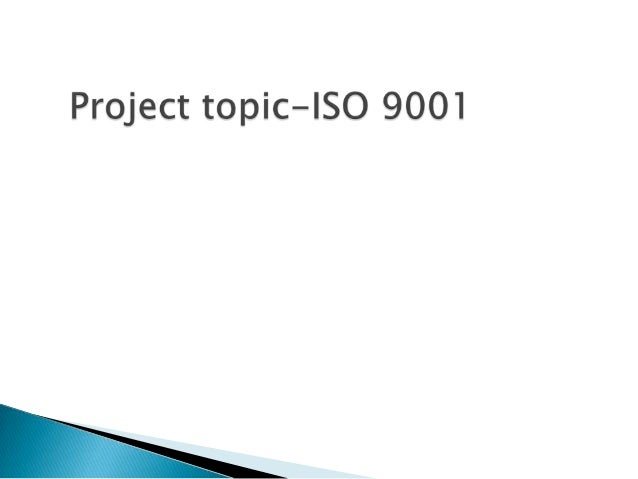 Overview of iso 9001