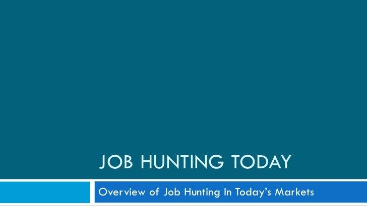Overview Of Jobhunt