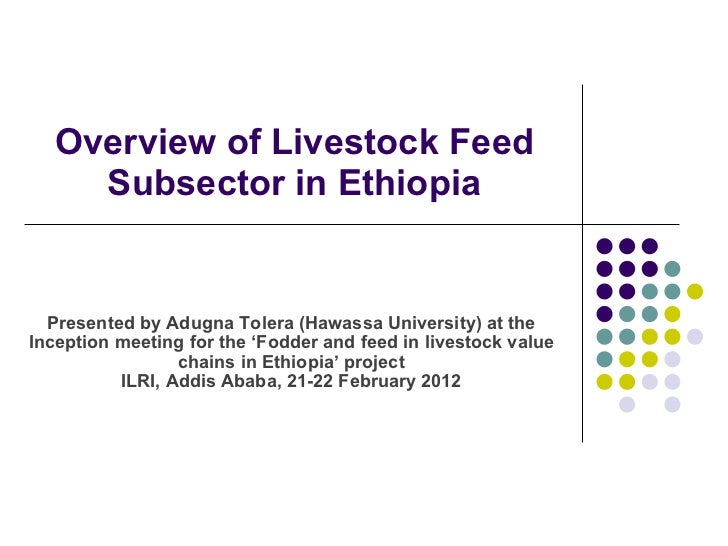 Overview of Livestock Feed Subsector in Ethiopia Presented by  Adugna Tolera (Hawassa University) at the  Inception meetin...