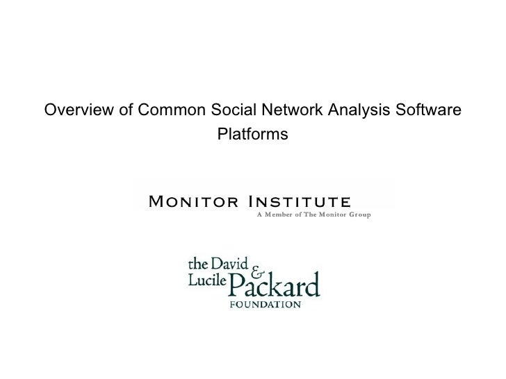 Overview Of Network Analysis Platforms