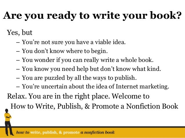 How to write a books