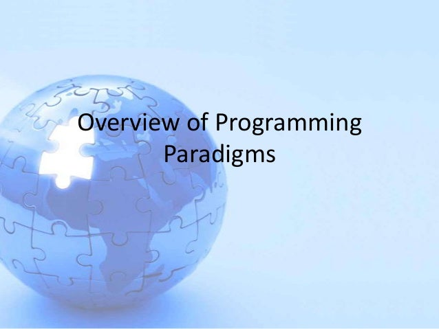 Overview of programming paradigms