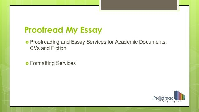 Proofread my essay please?