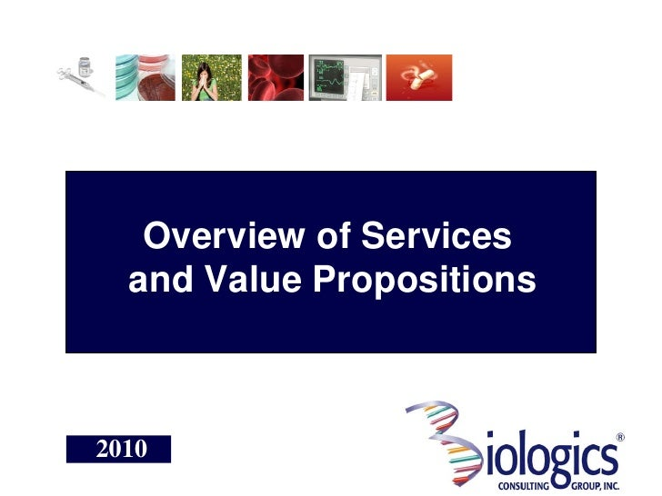 Overview of Services   and Value Propositions    2010