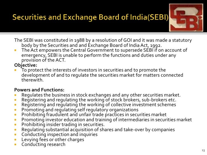 role and functions of stock exchange in india The nigerian stock exchange creates medium via which investors in the nigerian stock market can disposable income to buy products (stocks and securities) with the below are some of the other roles of the nigerian stock exchange they provide open forum for people to buy and sell securities.