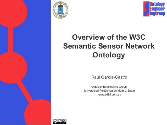 Overview of the W3C Semantic Sensor Network Ontology Raúl García-Castro Ontology Engineering Group. Universidad Politécnic...