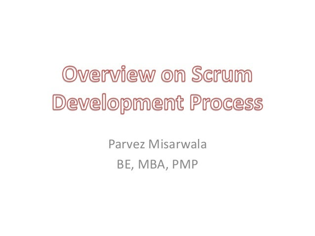 Overview on scrum development process