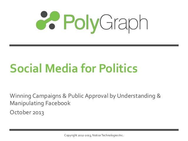 Social Media for Politics Winning Campaigns & Public Approval by Understanding & Manipulating Facebook October 2013  Copyr...