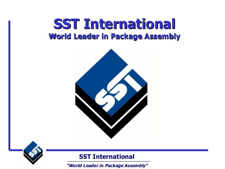 SST International Overview presentation
