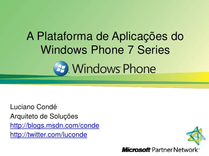 Overview do Windows Phone 7 Series