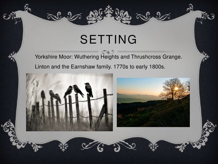 the separation of two households in the novel wuthering heights The setting used throughout the novel wuthering heights, helps to set the mood  to describe the  we find two households separated by the cold, muddy, and.