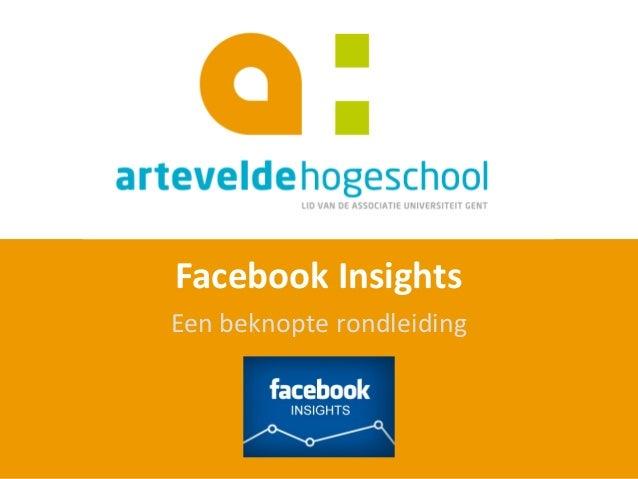 Overzicht Facebook Insights