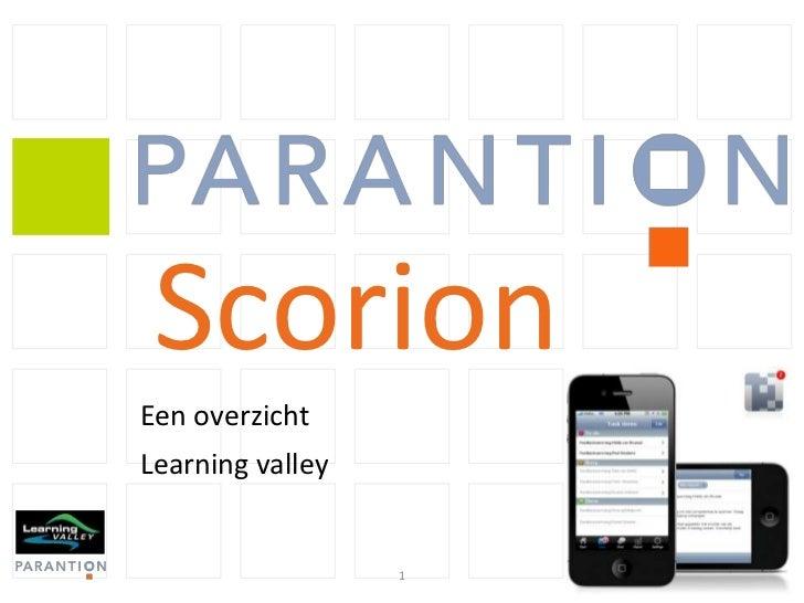 Overzichtspresentatie Scorion van Parantion