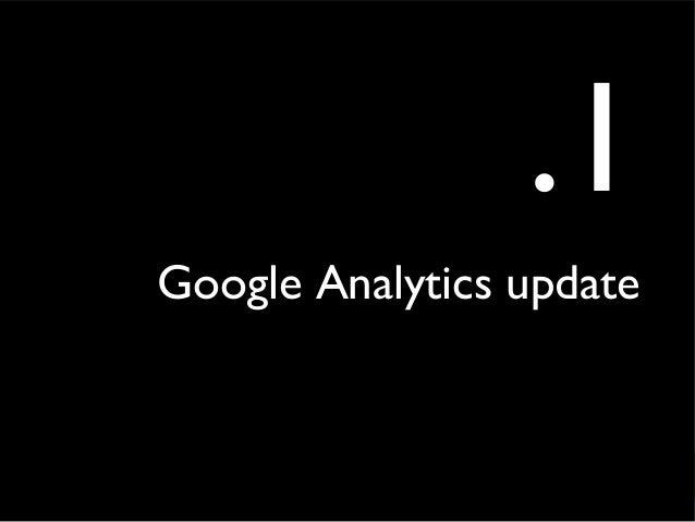 .1 Google Analytics update
