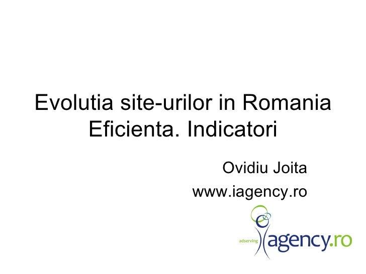 Ovidiu Joita Evolutia Site Urilor