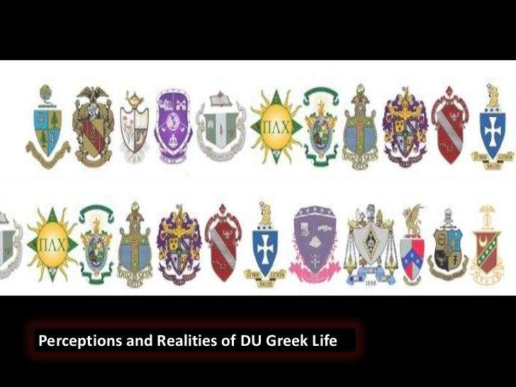 Greek Life Perceptions and Realities