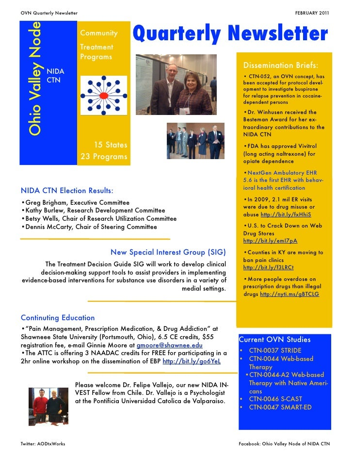 OVN Quarterly Newsletter                                                     	                            FEBRUARY 2011 Oh...