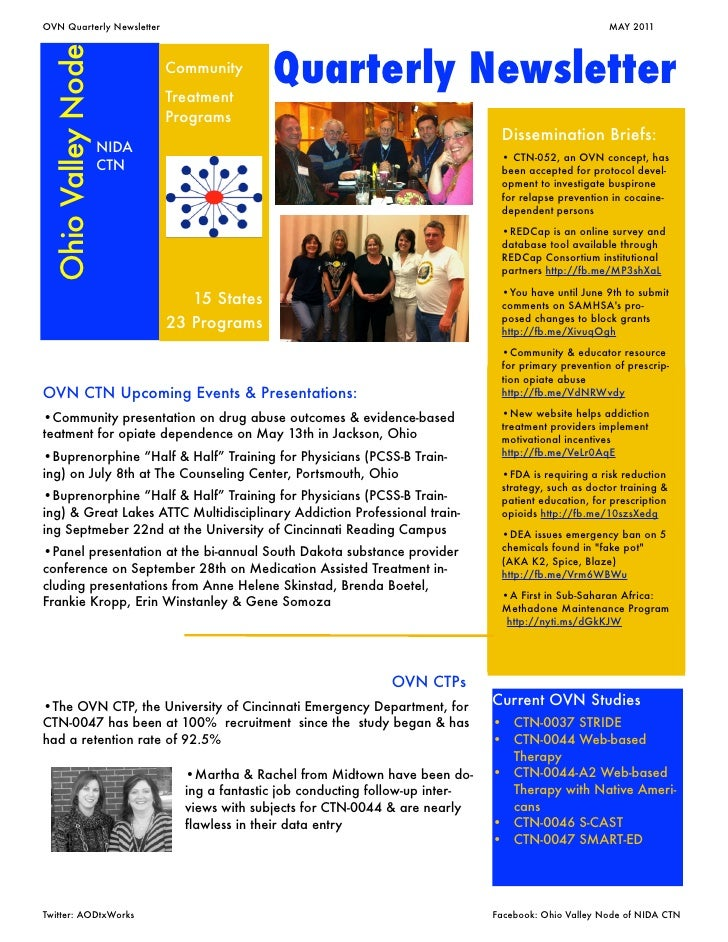OVN Quarterly Newsletter                                                 	                            MAY 2011 Ohio Valley...