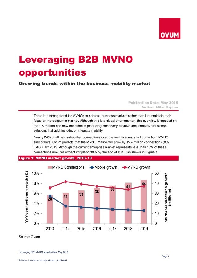 Leveraging B2B MVNO opportunities