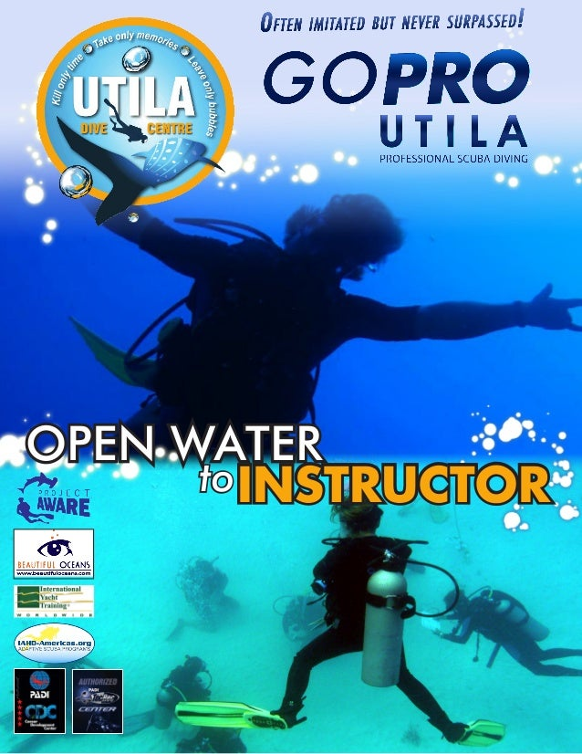 PADI Open Water to Scuba Instructor course information