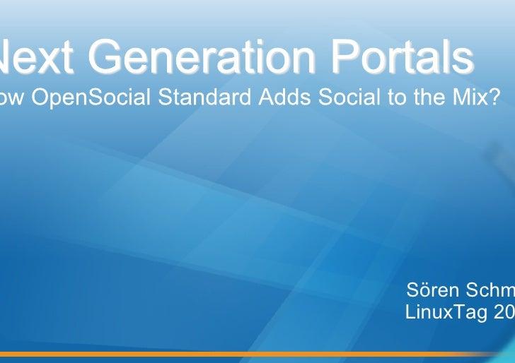 OW2 Exo Platform Open Social Portal Linuxtag09